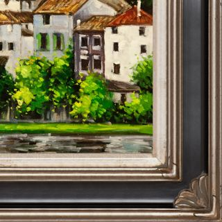 Church in Cassone (Landscape with Cypress) Canvas Art by Tori Home