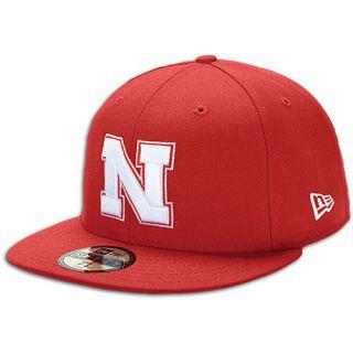 New Era College 59Fifty Cap   Mens   Accessories   Nebraska Cornhuskers   Red