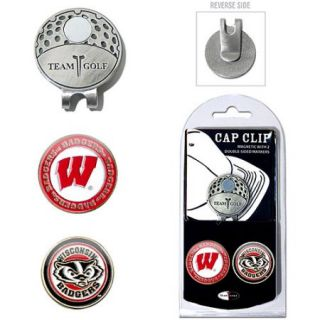 Team Golf NCAA Wisconsin Cap Clip With 2 Golf Ball Markers