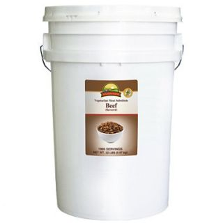 Augason Farms Vegetarian Meat Substitute Beef Pail   22 lbs.
