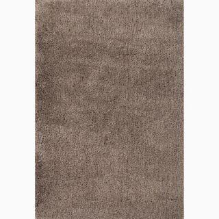 Hand made Stripe Pattern Gray/ Ivory 100 percent Wool Rug (5x8)