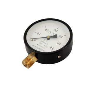 14mm Male Thread Connector Arabic Number Air Pressure Gauge 0 0.6MPa