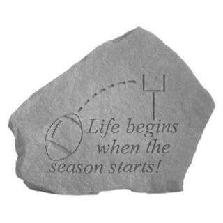 Kay Berry  Inc. 70201 Football Life Begins When The Season Starts   Great Thoughts   5. 25 Inches x 5 Inches
