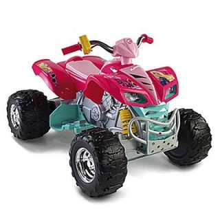Fisher Price Power Wheels Barbie Kawasaki KFX 12V Battery Powered  ATV