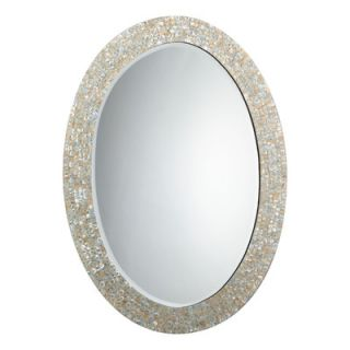Jamie Young Company 43.5 H x 31.5 W Oval Mother of Pearl Mirror