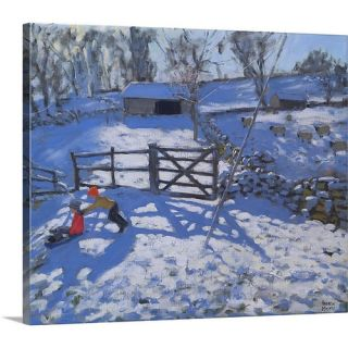 Farm at Elton Near Rowsley by Andrew Macara Painting on Canvas by