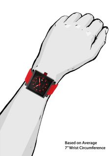 Compressor 2 Red Silicone Black Textured Dial Black IP SS