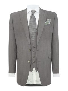 Chester Barrie Notch Collar Wedding Tailored Fit Suit Silver