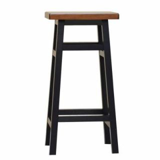 Carolina Cottage 30 in. Colby Stave Bar Stool in Antique Black 1230 ABAO