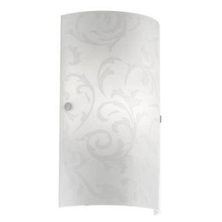 Eglo Amadora Collection 1 Light Matte Nickel Sconce 20619A