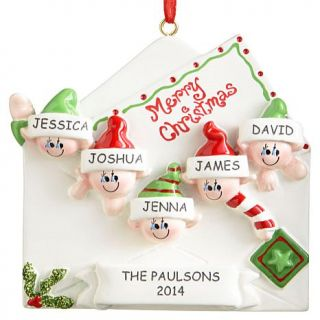 Personal Creations Personalized Merry Christmas Letter Family Ornament   5 Names   7646132