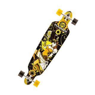 """Punisher Skateboards Steampunk 40"""" Double Kick Tail Drop Down Complete Longboard Skateboard    Punisher Skateboards"""