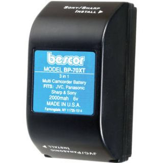 Bescor BP 70XT Ni Cad Battery Pack   6v, 2000mAh BP70XT