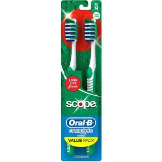 Oral B Complete Fresh Scope Scented Medium Bristle Toothbrush, 2 Count