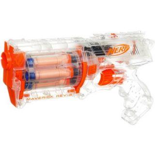 Nerf N Strike: Clear   Maverick REV 6 Blaster