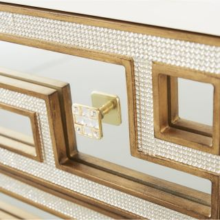 Bling 3 Drawer Blanco Chest by Gails Accents