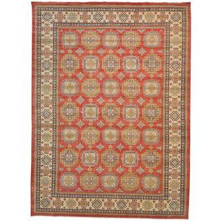 Kazakh Oversize 100 percent Wool Oriental Handmade Rug (127 x 172