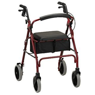 Nova Medical Products Zoom 24 Rolling Walker 33.5 x 24 Red