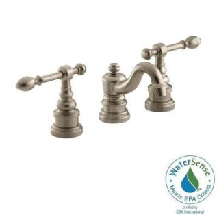 KOHLER IV Georges Brass 8 in. Widespread 2 Handle Low Arc Bathroom Faucet in Vibrant Brushed Bronze K 6811 4 BV