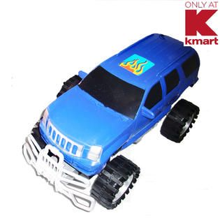 Just Kidz 13 in. R/C Blue Big Wheel Vehicle   Toys & Games   Vehicles