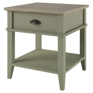 Ameriwood End Table with Drawer   Beach Sand and Laguna Oak
