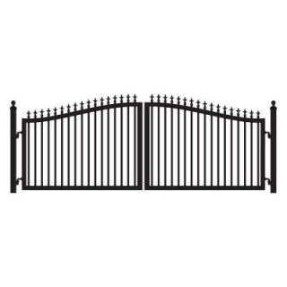 Mighty Mule St. Augustine 12 ft. W x 5 ft. H Powder Coated Steel Dual Driveway Fence Gate G2512 KIT