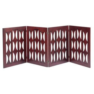 Elegant Home Fashions PET 946 4 32 St Augustine 32 Gate in Mahogany with 4 Panels