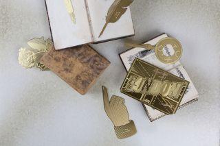 Tool The Bookworm Postcard Book mark Brass by Tom Dixon