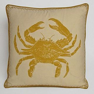 Kevin OBrien Studio Nauticals Crab Throw Pillow; Yellow Submarine
