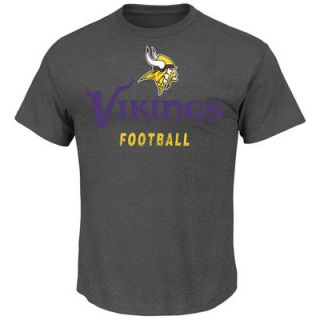 Minnesota Vikings Inside The Line T Shirt   Charcoal