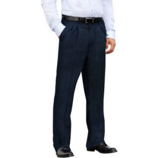 George   Big Men's Wrinkle Resistant Pleat Front Khaki Pants