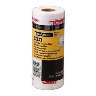 3M Hand Masker 2 ft. x 180 ft. Pre folded Masking Film Plus (12 Pack) MF24