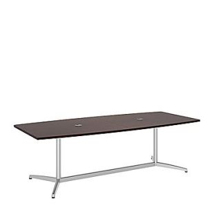 Bush Business 96L x 42W Boat Top Conference Table with Metal Base, Harvest Cherry