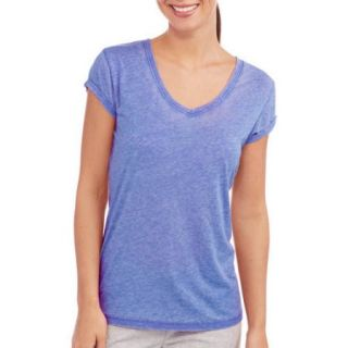I. Appel Women's Short Sleeve V Neck Sun Wash Jersey Sleep Tee
