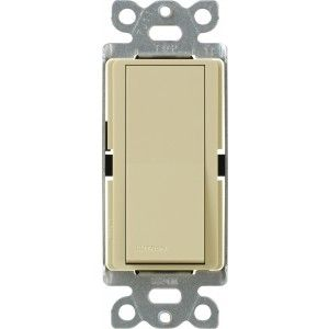 Lutron CA 3PSNL IV Light Switch, Claro Switch with Locator Light, 3 Way   Ivory