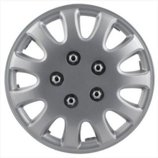 """5 Lug Silver 14"""" Wheel Cover, (Set of 4 covers) (WH525 14S BX)"""