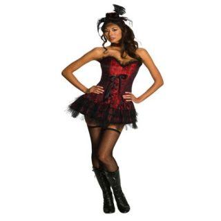 Women's Sexy Adult Oo La La Red Burlesque Saloon Girl Costume