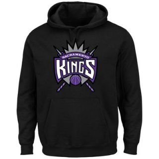 Sacramento Kings Majestic Current Logo Tech Patch Pullover Hoodie   Black
