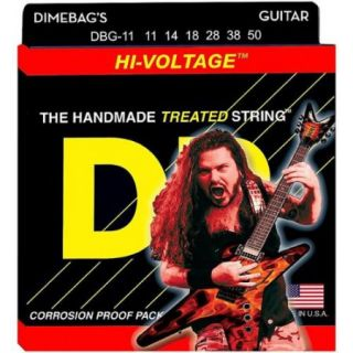 DR Strings Dimebag Darrell DBG 11 Extra Heavy Hi Voltage Electric Guitar Strings