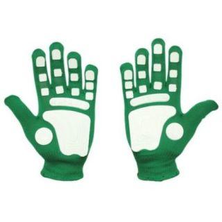 Fan Hands 999714 Clap Enhancing Gloves Kelly Green   Youth