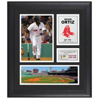 MLB - David Ortiz Framed 15x17 Multi-Photo Collage  Details: Boston Red Sox, with Game Used Baseball