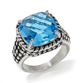 Emma Skye Jewelry Designs Rope Design Crystal Stainless Steel Ring   7753434