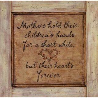 Mothers Hold Poster Print by Karen Tribett (10 x 10)