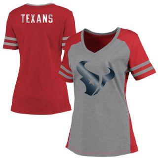 Houston Texans Pro Line Womens Presidio V Neck T Shirt   Red