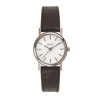 Bulova Ladies Brown Strap Watch