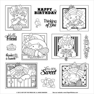 Hot Off The Press Acrylic Stamps 8X8 Sheet Janies Furry Friends