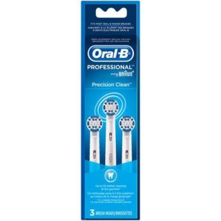 Oral B Professional Precision Clean Replacement Electric Toothbrush Head, 3 count