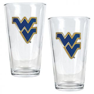 West Virginia Mountaineers 2pc Pint Ale Glass Set   7570234