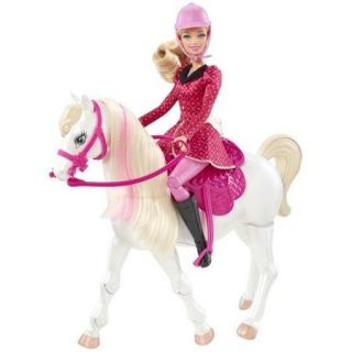 Barbie & Her Sisters in a Pony Tale Train and Ride Horse Playset