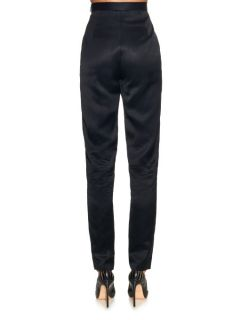 High waisted slim leg trousers  Juan Carlos Obando US
